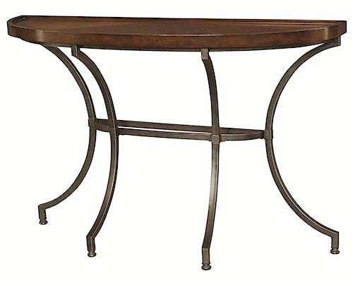 Hammary Barrow Sofa Table with Metal Legs