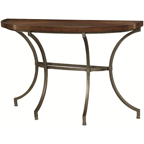 Hammary Barrow Sofa Table with Metal Legs