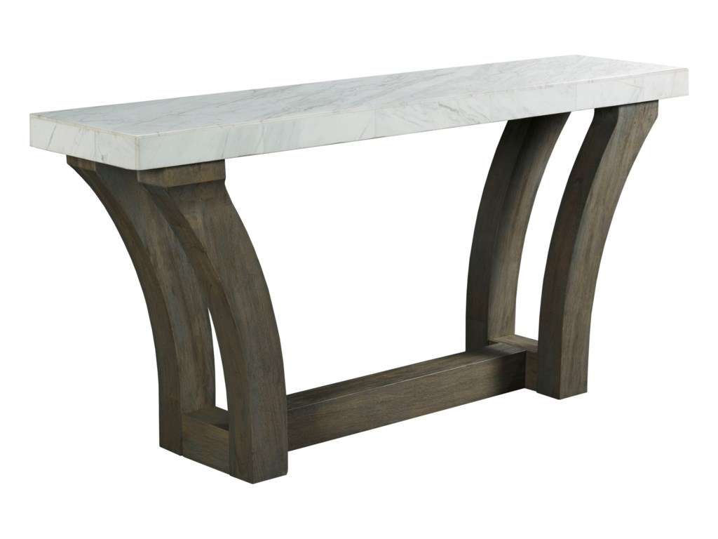 Beckham Contemporary Console Table with White Marble Veneer Top by Hammary  at Wayside Furniture