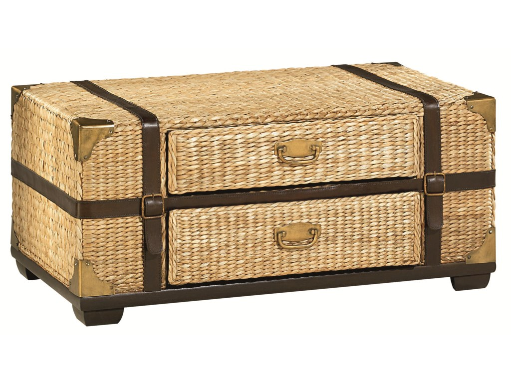 Hammary Boracay Tropical Voyage Cocktail Trunk With Storage Wayside Furniture Cocktail Coffee Tables