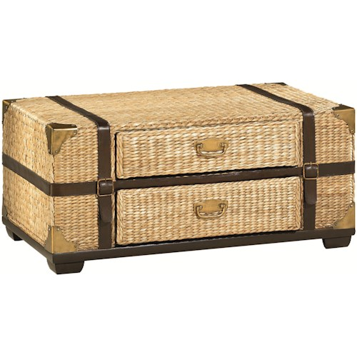 Hammary Boracay Tropical Voyage Cocktail Trunk with Storage