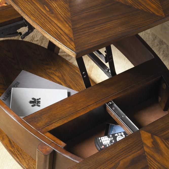 Storage Compartments Beneath Table Top