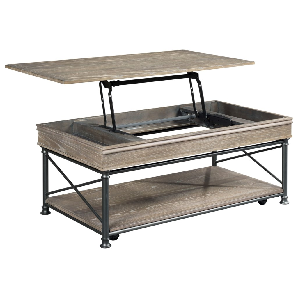 Hammary Darrington Industrial Rectangular Lift Top Cocktail With