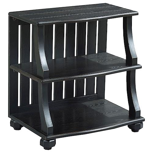 Hammary Elm Ridge Rustic Open Chairside Table