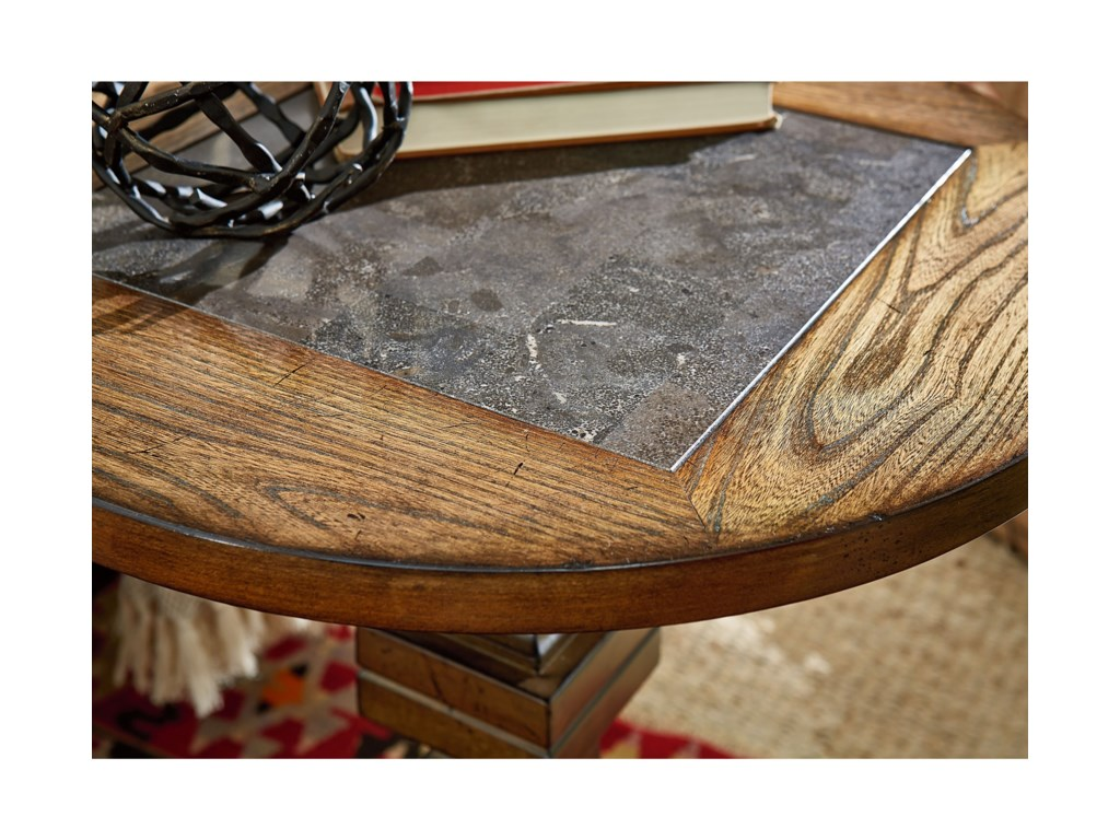Hammary Elm RidgeRound Accent Table