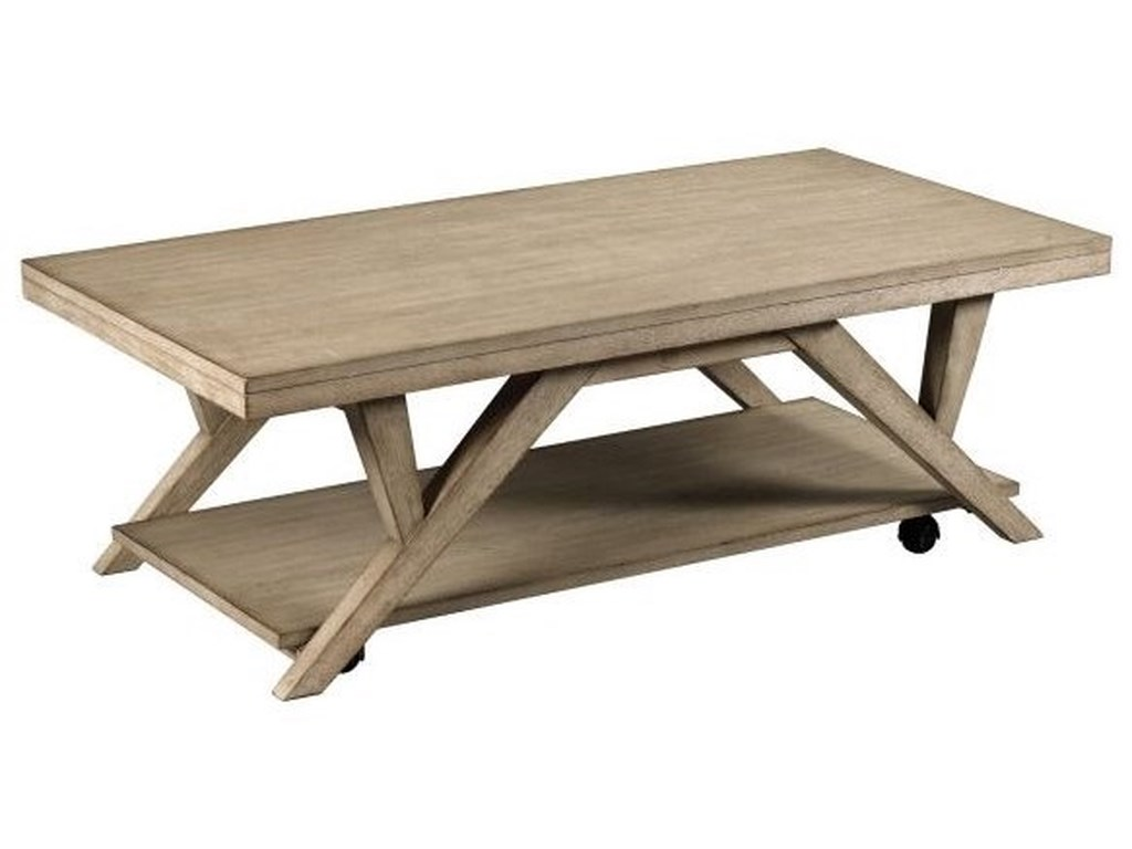 Hammary Exposition Transitional Rectangular Tail Table With Removable Casters