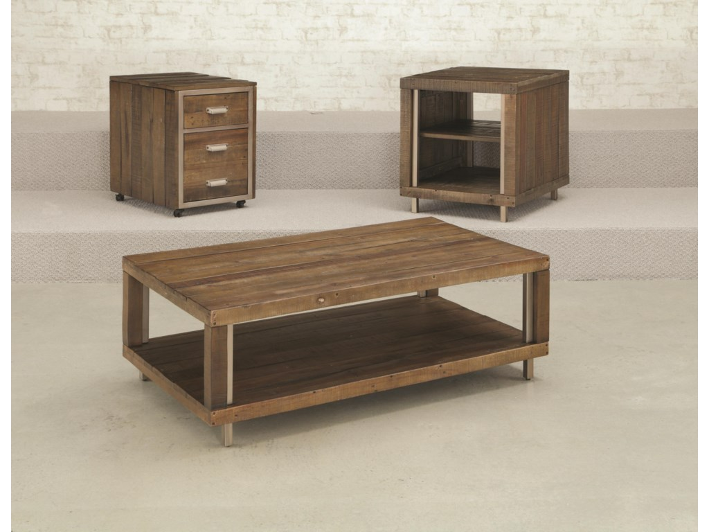 Shown with Mobile File Cabinet and Open Rectangular Cocktail Table