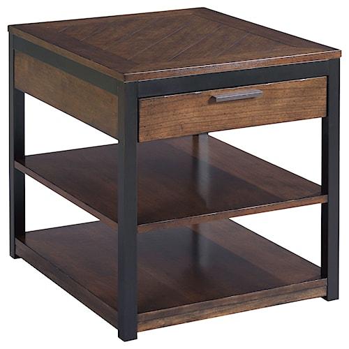 Hammary Franklin Rectangular Drawer End Table