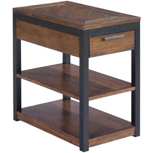 Hammary Franklin Charging Chairside Table
