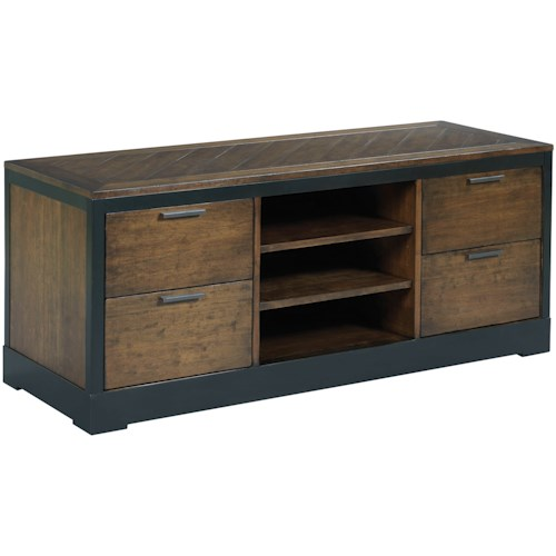 Hammary Franklin Entertainment Console with Power Bar and Wire Management