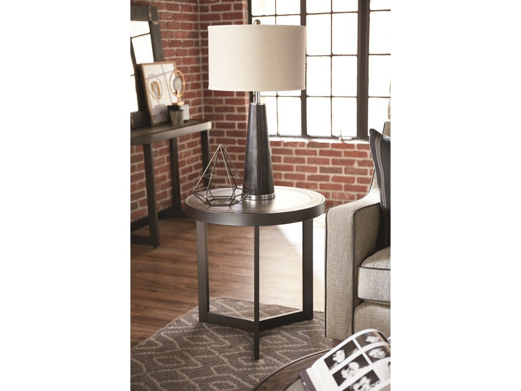 Morris Home GraystoneRound End Table