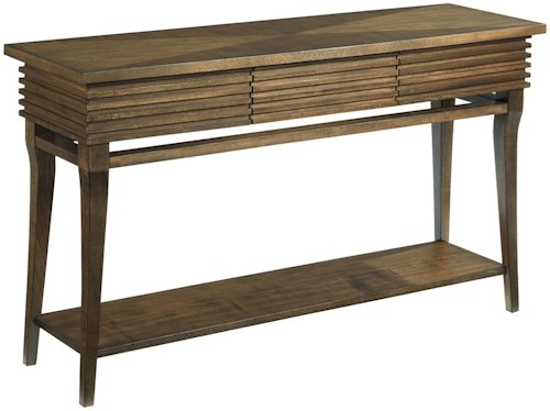 Hammary Groovy Sofa Table with Drawer and Shelf