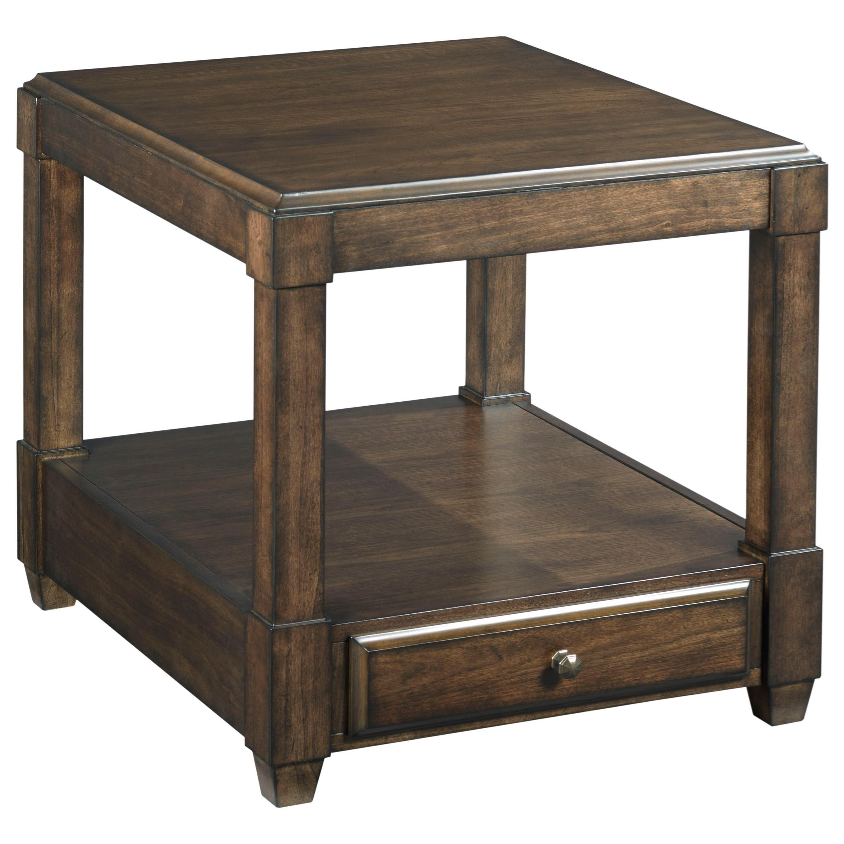 Hammary Halsey Rectangular End Table With Soft Close Drawer