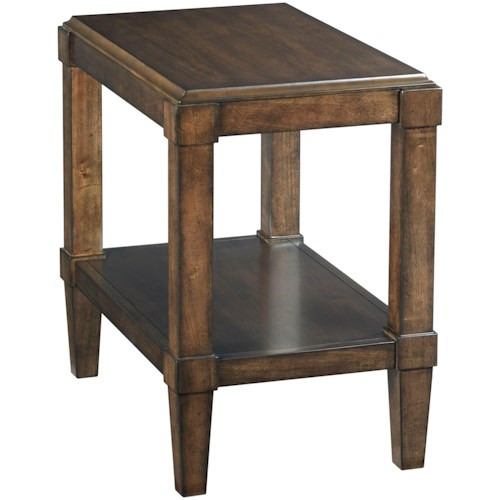 Hammary Halsey Chairside Table with Shelf