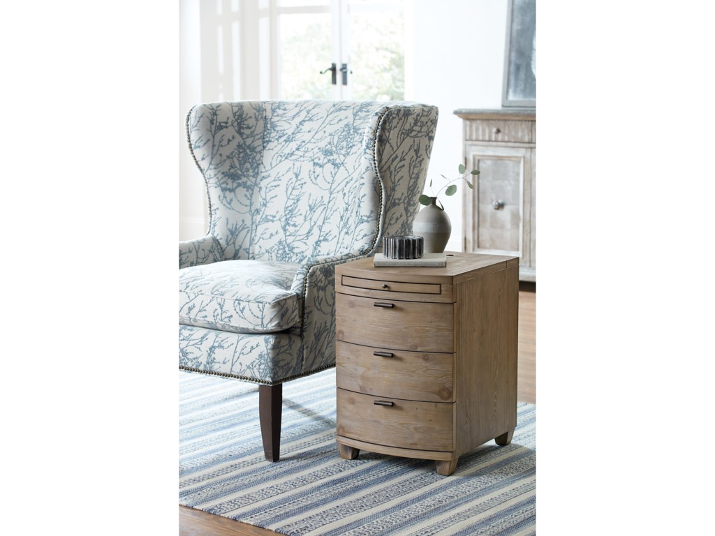 Hammary ChairsidesDriftwood Bowfront Chairside