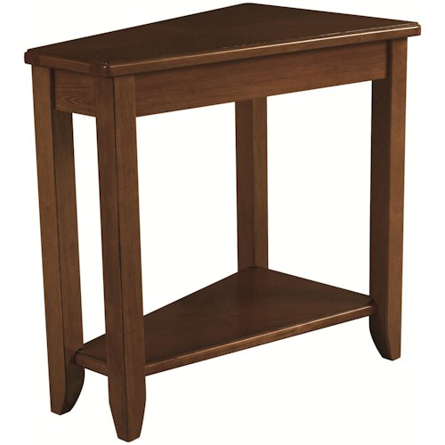 Hammary Chairsides Oak Chairside Table