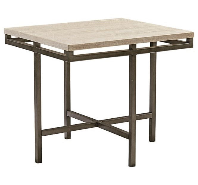 Hammary East Park Rectangular End Table With Faux Marble Top - East park coffee table