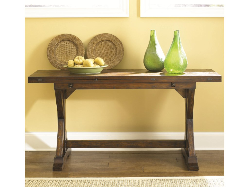Hammary hidden treasures flip top console table belfort hammary hidden treasures flip top console table geotapseo Image collections