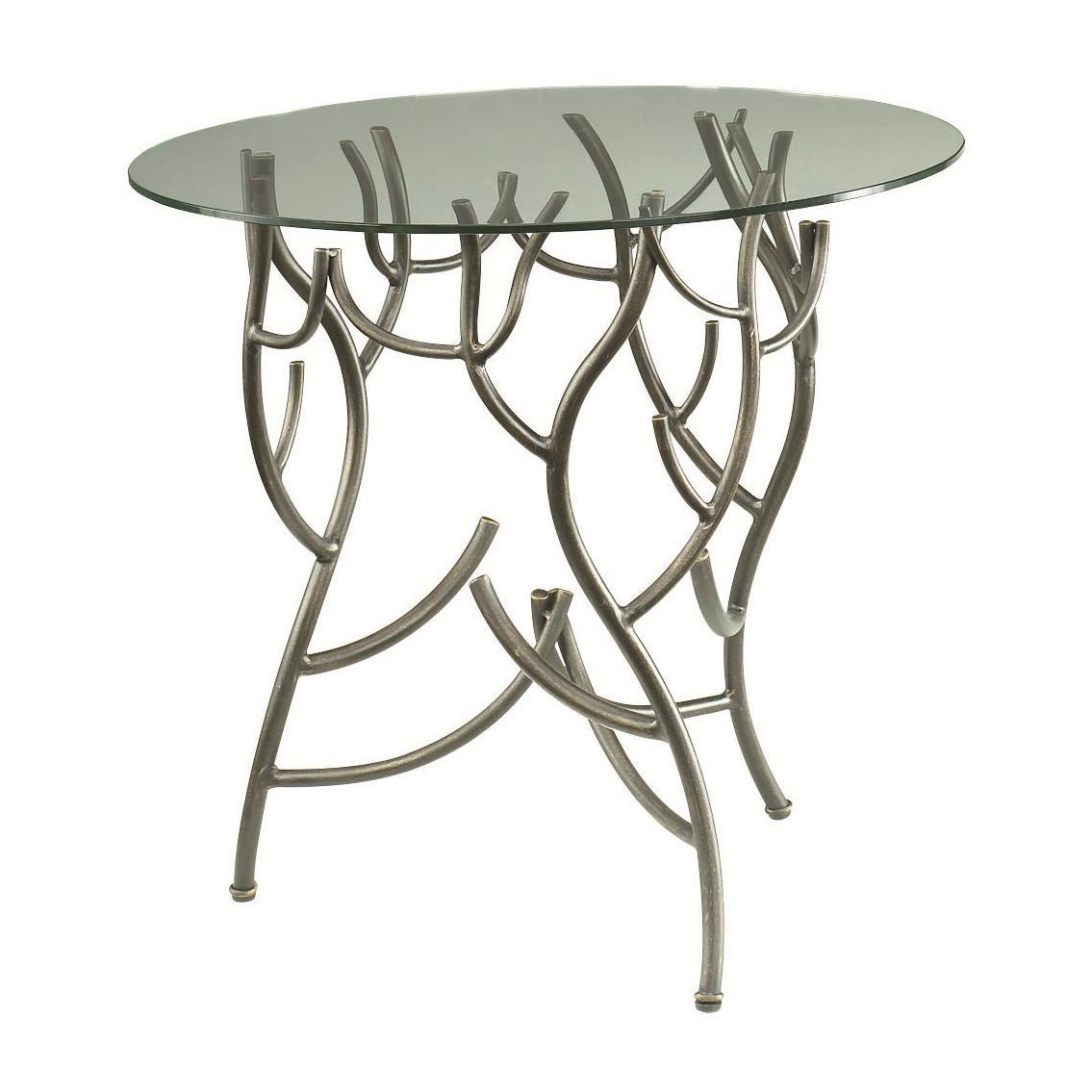 - Hammary Hidden Treasures Glass Top Twig Accent Table Wayside