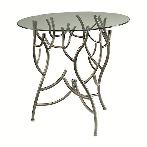 Hammary Hidden Treasures Glass Top Twig Accent Table