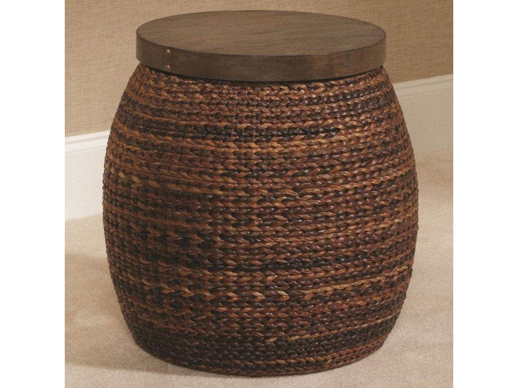 Hammary Hidden TreasuresRound Accent Basket Table