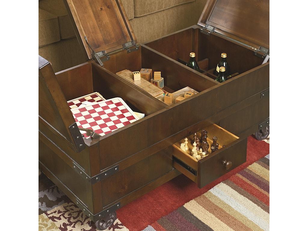 Hammary Hidden TreasuresTrunk Cocktail Table