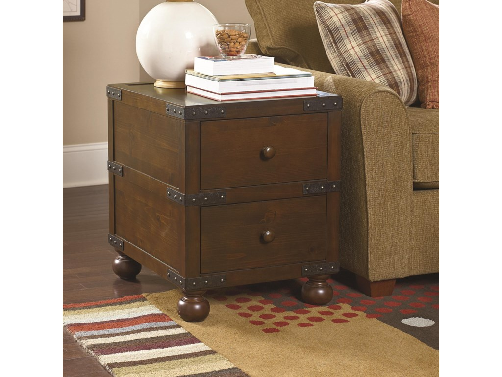 Morris Home Hidden TreasuresTrunk End Table