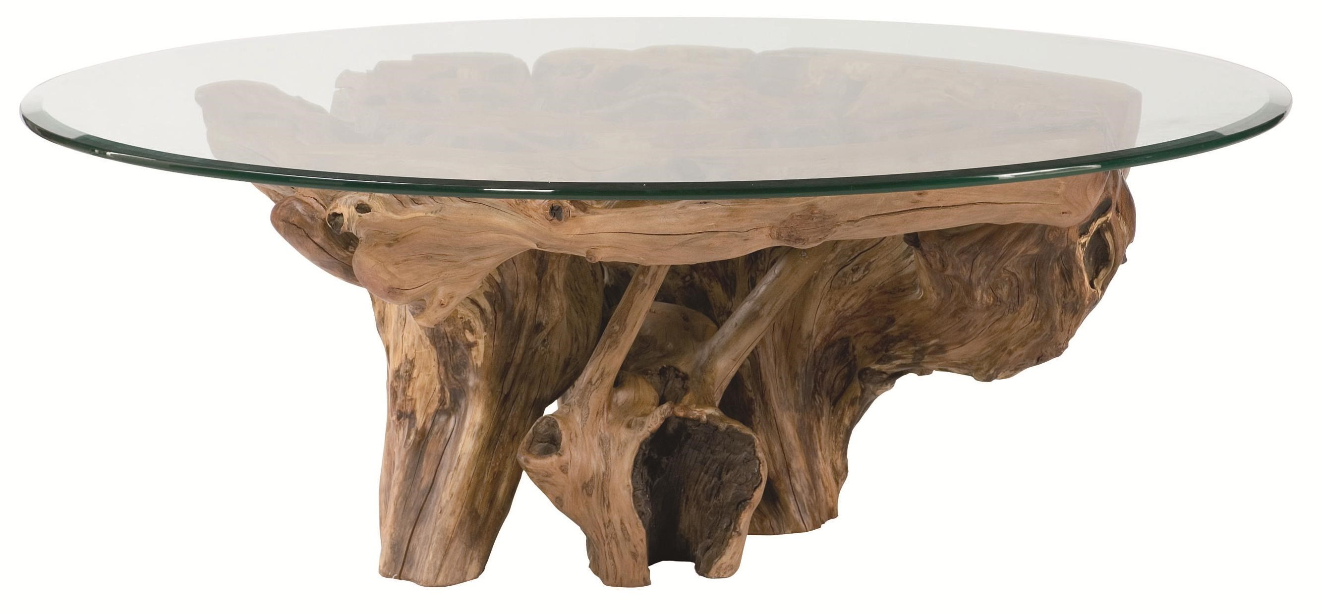 Hammary Hidden Treasures Root Ball Cocktail Table With Glass Top   Belfort  Furniture   Cocktail/Coffee Tables