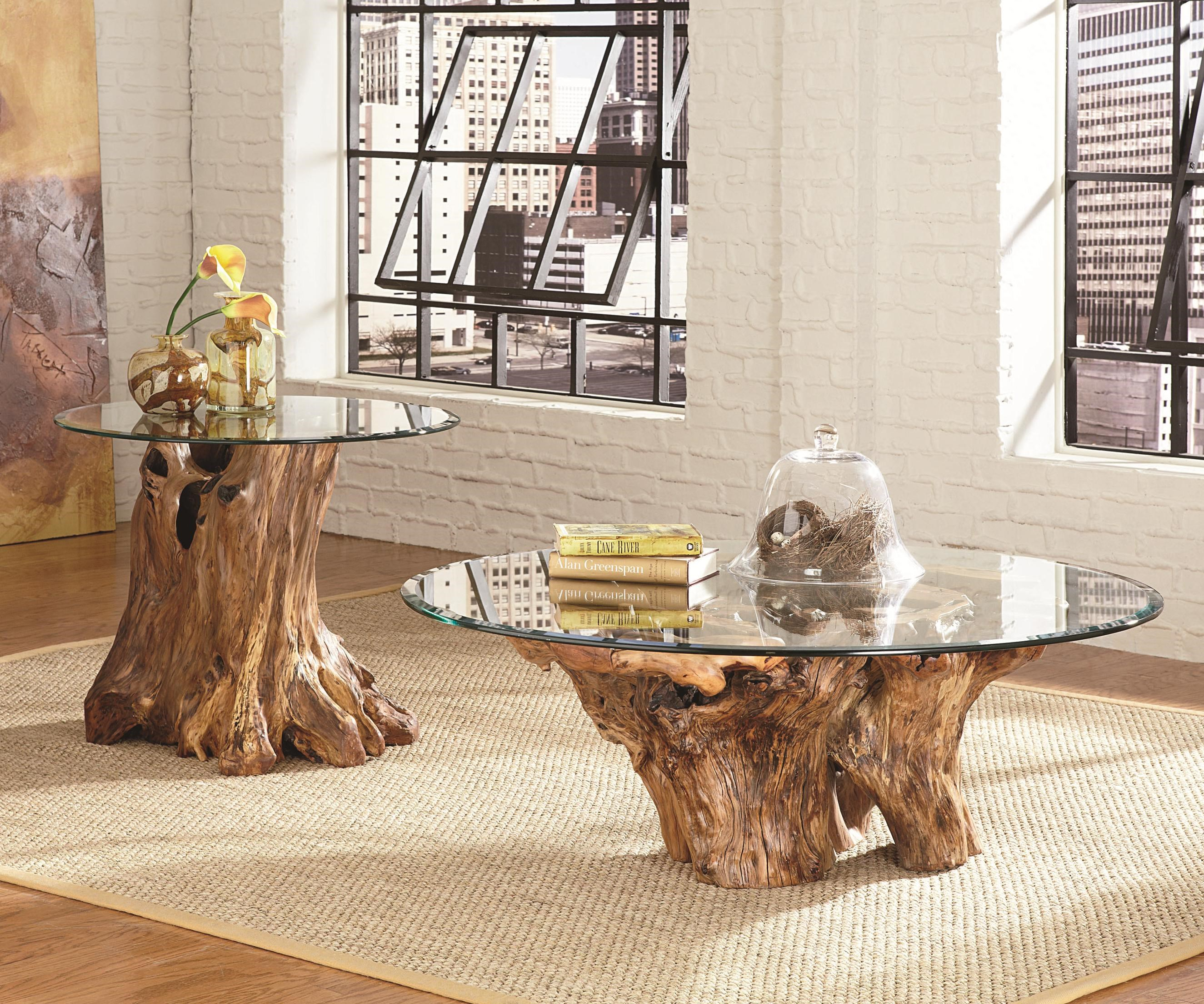 ... Shown With Root Ball End Table