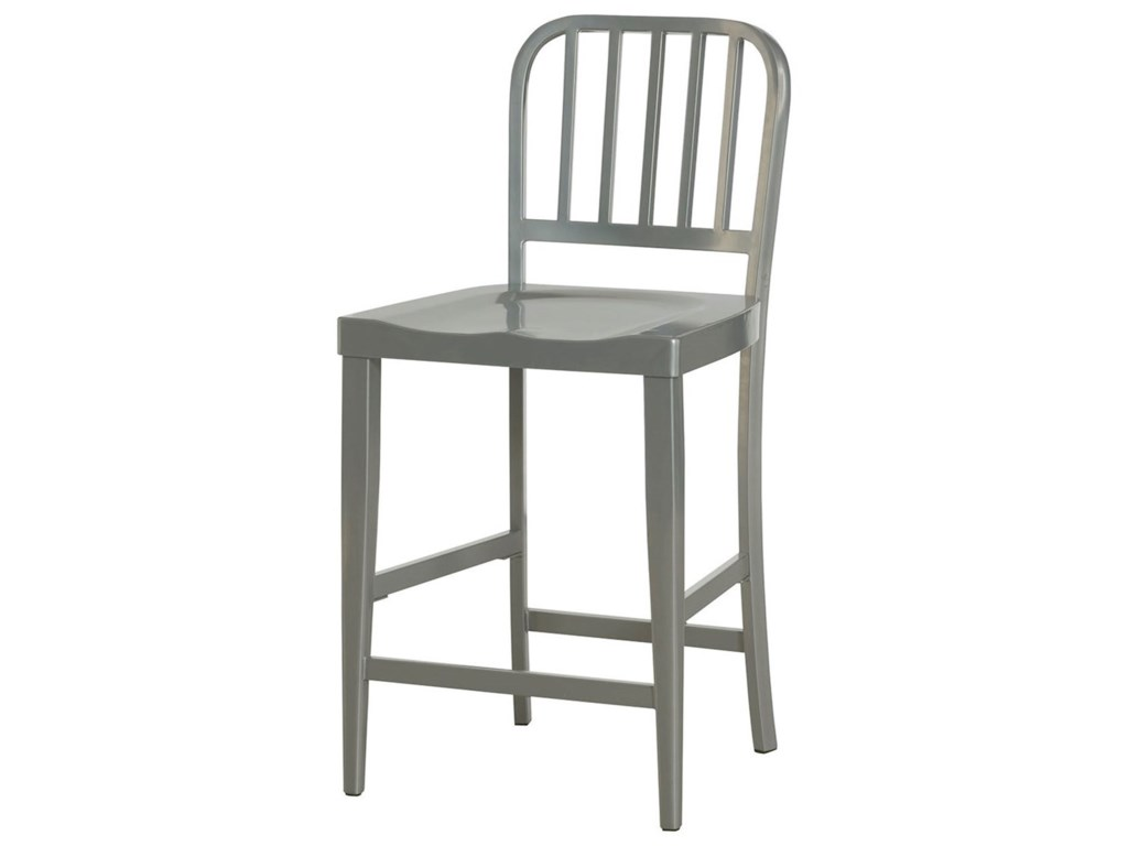 Hammary Hidden TreasuresGray Counter Stool