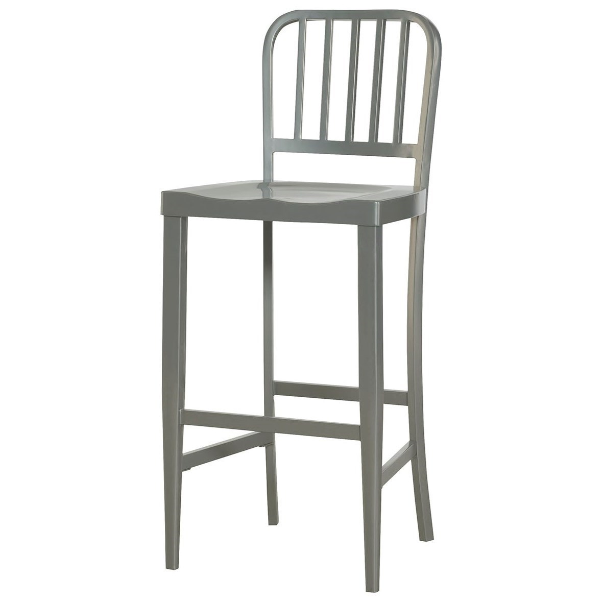 Hammary Hidden Treasures Gray Bar Stool