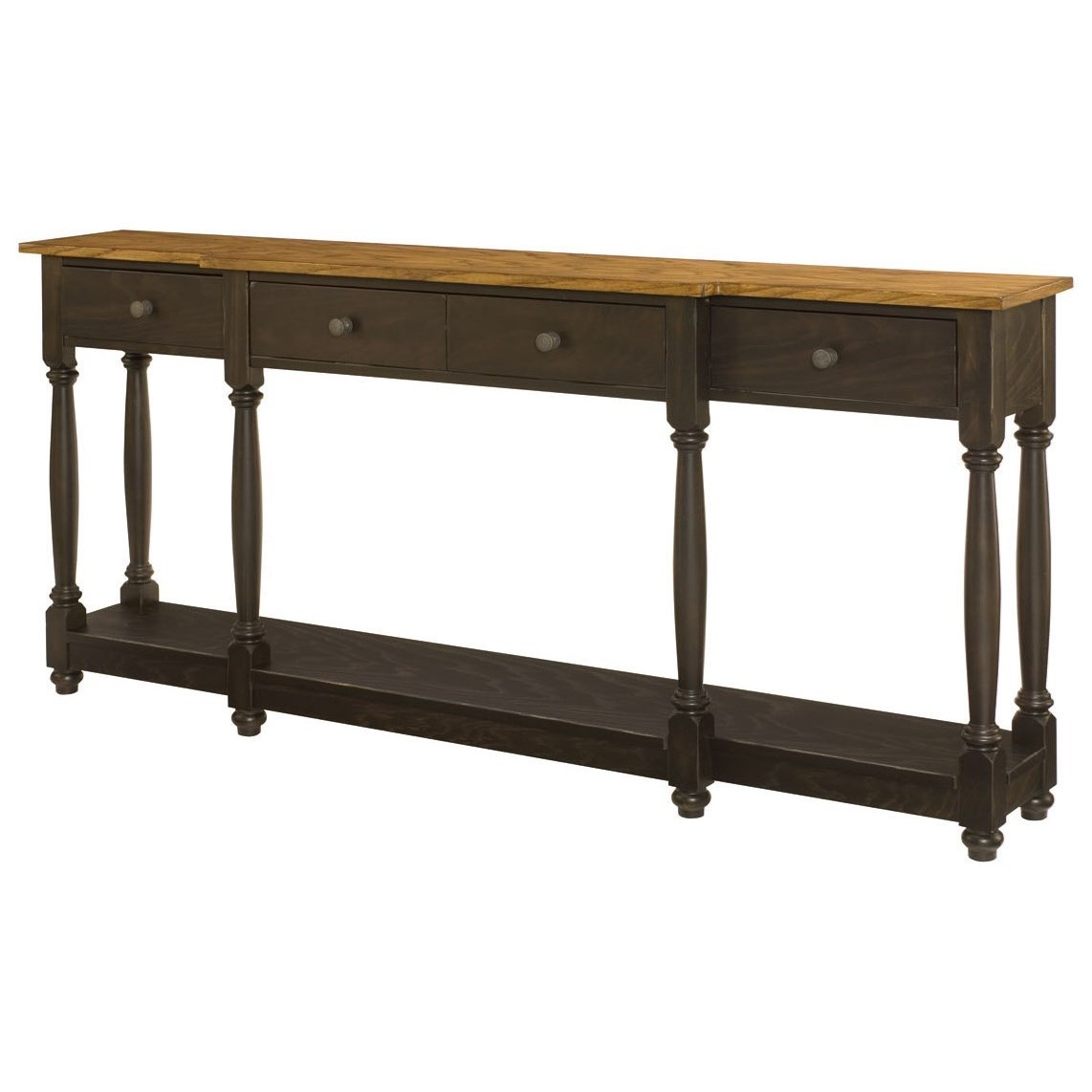 Hammary Hidden Treasures Transitional Console Table With Four Drawers