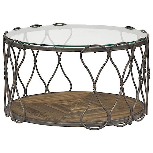 Hammary Hidden Treasures Round Cocktail Table