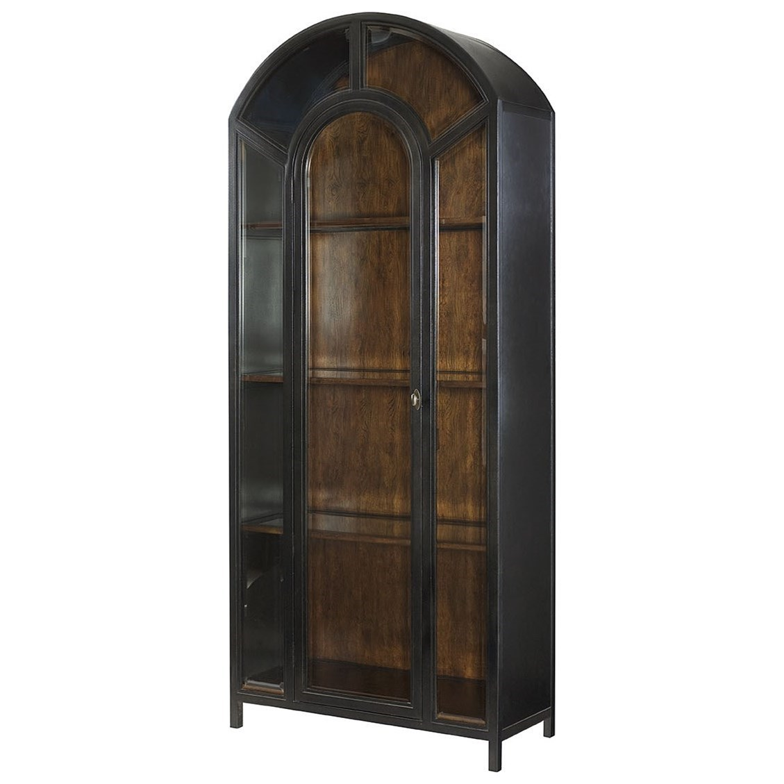 Hammary Hidden Treasures Vintage Apothecary Cabinet With Beveled Glass Door