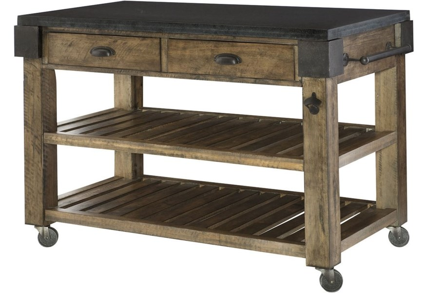Hammary Hidden Treasures Storage Kitchen Island With Granite Top Stoney Creek Furniture Kitchen Islands