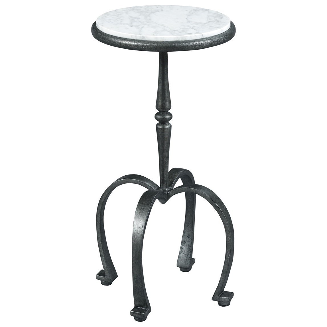 TABLE TRENDS Hidden Treasures Transitional Martini End Table