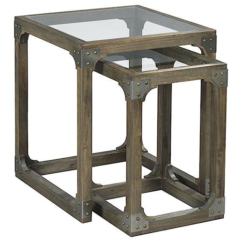 Hammary Hidden Treasures Rustic Nesting Tables