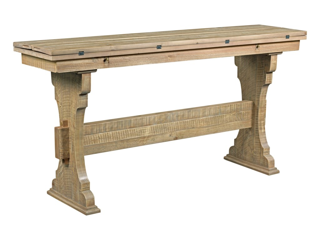 Hammary Hidden TreasuresTrestle Flip Top Table