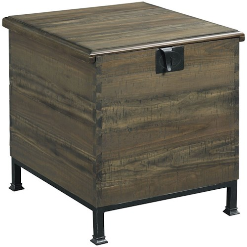 Hammary Hidden Treasures Milling Chest End Table