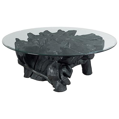 Hammary Hidden Treasures Charred Rootball Cocktail Table