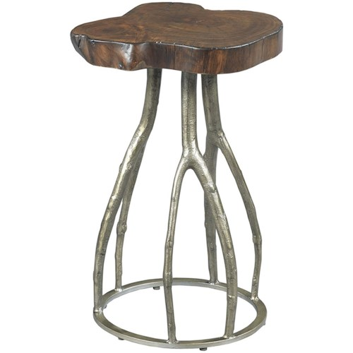 Shenandoah 5 1 Down Light Rustic Chandelier Twig: Hammary Hidden Treasures Live Edge Twig Table With Metal