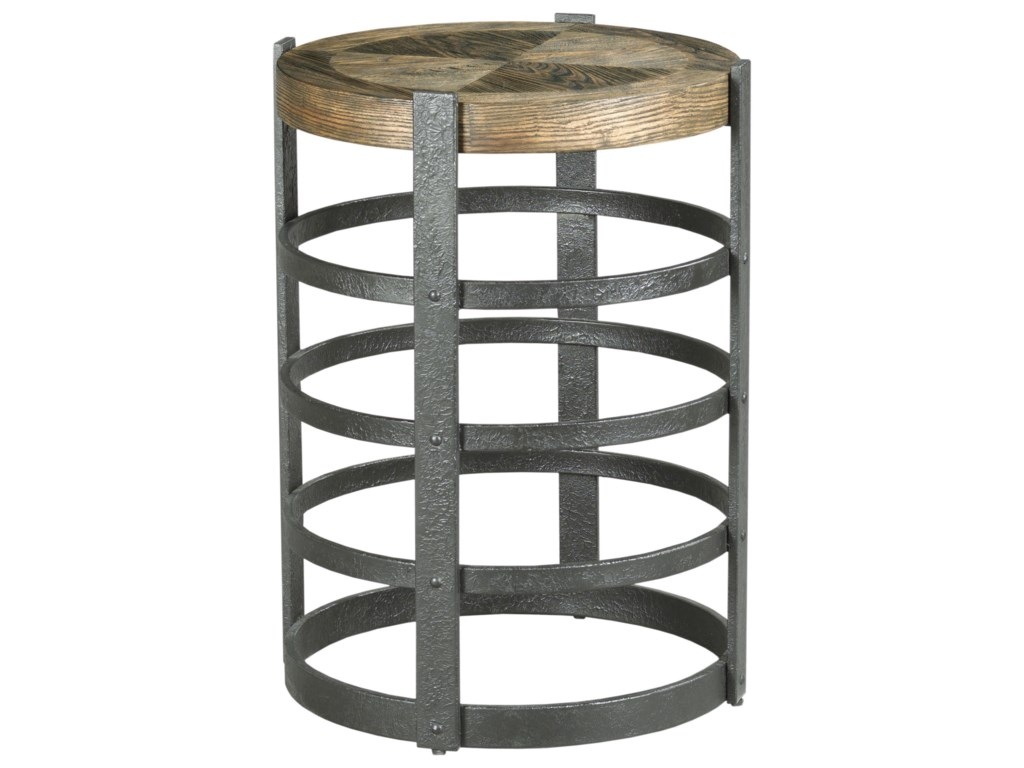 Hammary Hidden TreasuresBarrel Strap End Table