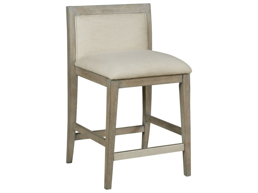 Hammary Hidden Treasures Transitional Counter Stool With Upholstered Low Back Wayside Furniture Bar Stools