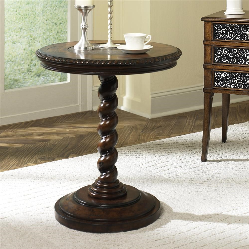 Hammary Hidden Treasures Twisted End Table   Dunk U0026 Bright Furniture   End  Tables