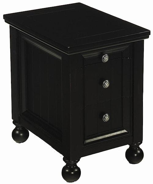 Hammary Hidden Treasures 3 Drawer Chairside Table