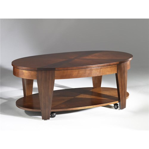 Hammary Oasis Oval Cocktail Table with Lift-Top