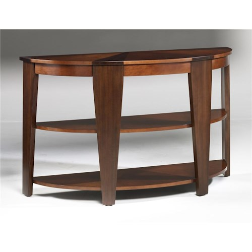 Hammary Oasis Demilune Sofa Table
