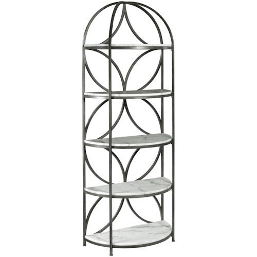 Hammary Impact Bookcase with 5 Marble Shelves