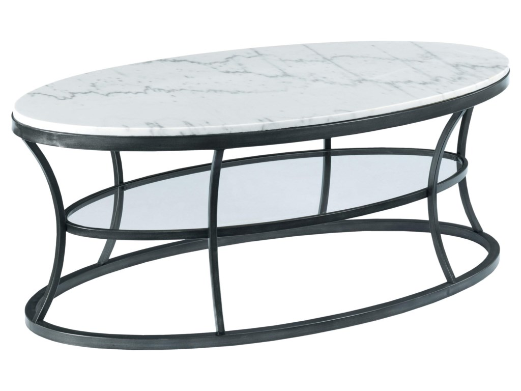 Hammary ImpactOval Cocktail Table with Marble Top