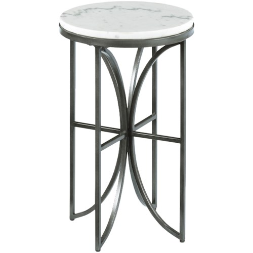 Hammary Impact Small Round Accent Table with Marble Top